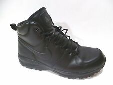 p Nike Manoa Leather Outdoor Work Boot ACG Black Lace Up size 13
