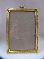 Antique Metal Picture Frame Ornate Design with Top Hook 4 x 6