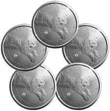 2017 Canada $5 1 oz. Silver Predator Series - Lynx - Lot of 5 Coins SKU45422