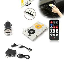 Car Telecontrol Tape Cassette SD MMC MP3 Player Audio Adapter Kit+Remote Control
