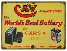 CAV Worlds Best Battery Motor Oil And Gas Station Sign
