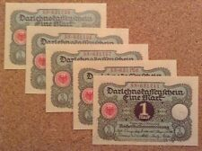 5 x 1 Mark. Germany banknote. Dated 1920. Unc.