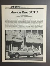 1980 Mercedes Benz Factory 300TC C&D Reprint Showroom Sales Folder RARE!! L@@K