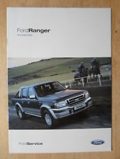 Ford Ranger Orig 2004 Uk Mkt Accesorios Folleto-Xlt Super Cab