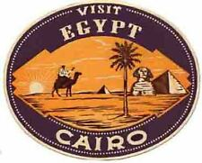 CAIRO  Egypt  Giza  Vintage Looking   Travel Decal Sticker Luggage Label