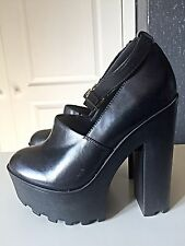 River Island Ladies Women Designer High Heel Platform Ankle Shoe Boot 5 38 Black