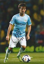 David Silva mano firmado 12x8 Foto-MAN Manchester City España-fútbol