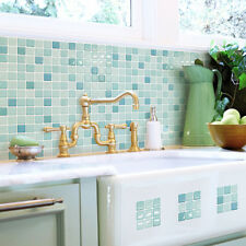 Self Adhesive Wall Tiles Peel And Stick Backsplash Kitchen Bathroom Green Blue