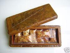 Holzschachtel echt Blatt m. 80 g Butterscotch Honig Bernstein Sammeln/Räuchern