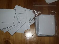 100 WHITEboard Blank REUSABLE Play Flash cards Note Craft Education learning