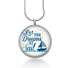 Dream necklace, Sailing Jewelry, Let you Dreams Sail, sailing, vacation, sailor