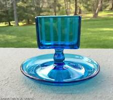 c.1930s Art Deco Turquoise BLUE Glass Cigarette Calling Card Holder