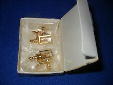 Miniature: 2 non-electric brass coach lamps by Clare-Bell - 1:12 scale, NIB 1790
