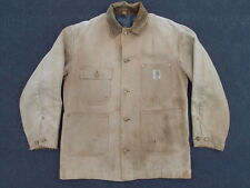 Vintage Carhartt Distressed Chore Work Jacket Size 38 S Construction Coat