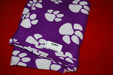 Lady's Infiniti Scarf Plush Poly Fleece Knit Paw Print Tiger Cat Dog Panther S1P