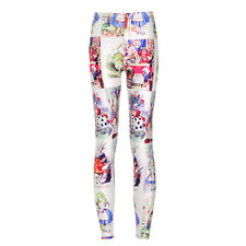 Women Alice in Wonderland Print Cassual Yoga Gym Stretch Skiny Fitness Leggings