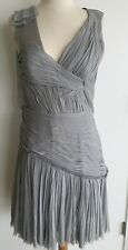 J Mendel Paris Couture Mini Crepe Rouched Sexy Beaded Strap Dress Size 6