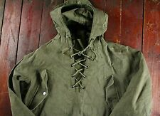 WWII WW2 40s US NAVY WET FOUL WEATHER SMOCK DECK CAGOULE PARKA JACKET USN MEDIUM