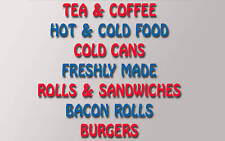SET OF BURGER VAN CATERING TRAILER STICKERS v002