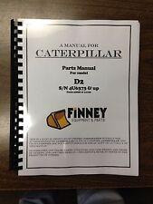 Cat Caterpillar D2 Parts Manual Book Dozer 4U S/N 4U6343 & UP