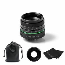 NEW 35mm F1.6 APSC C Mount Lens for Sony NEX E-mount camera & Adapter bundle