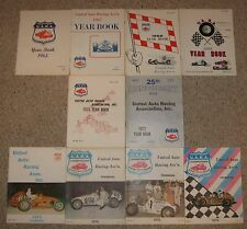 1965 - 1976 United Auto Racing Assn Midget Year Book Lot of 10 UARA Vintage Race
