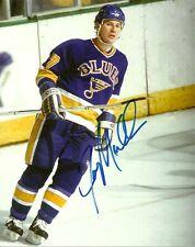 VINTAGE JOE MULLEN SIGNED ST.LOUIS BLUES 8x10 PHOTO! JOEY Autograph