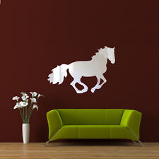3D Acrylic Mirror Running Horse Wall Sticker Decal Home Office DIY Art Decor-US