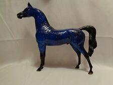 Beautiful Peter Stone Arabian Stallion Jeweled Deep Blue Lapis Model Horse