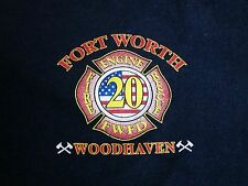 Ft Fort Worth Fire Engine Rescue Department Woodhaven Firefighter FWFD T Shirt S
