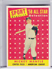 1958 TOPPS #487 MICKEY MANTLE ALL STAR NEW YORK YANKEES HOF 1294