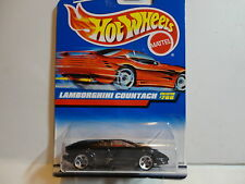 Hot Wheels #768 Black Lamborghini Countach w/5 Hole Wheels