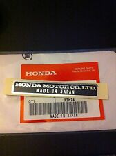 Genuine Honda Name Plate Decal Z50 ST70 Monkey Bike Dax Z50m