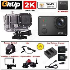 Gitup Git2 Pro 16MP 2K Wifi Sports Action Camera+Stand+Mic+Remote+Charger Kit