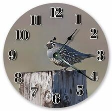 "10.5"" CALIFORNIA QUAIL CLOCK - Large 10.5"" Wall Clock - Home Décor Clock -  3023"