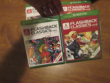 Atari Flashback Classics Vol. 1 & Vol. 2 XBOX ONE Sony 2016 LOT 2 GAMES NEW