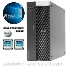 Dell Precision T5600 PC 2x Xeon E5-2670 Octa Core RAM 32GB SSD 128GB Quadro 2000