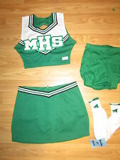NEW Child Medium Real Cheerleader Uniform Outfit Costume+Briefs & Socks MHS WOW