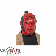 Adult Hellboy Official Full Head Mask Smiffys Halloween Horror Fancy Dress Latex
