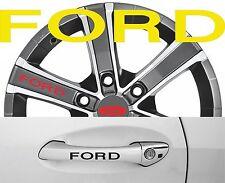 4 x Türgriff- Felgen Aufkleber Ford 001 #1405