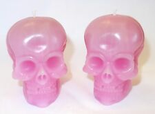 2 Skull Candles, Handmade, Rose Scented. Gothic / Pagan / Halloween