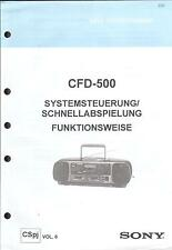 Sony Original Service Manual für CFD-500 Funktionsweise