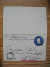 Argentina 6c Reply PS Stationery Card BA to Klostermansfeld VAPOR PERSEO