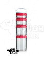 BlenderBottle GoStak Starter 4Pak Red Portable Containers Blender Bottle