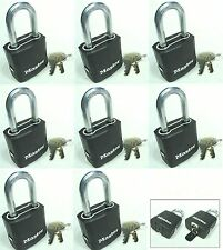 Lock Set by Master M115KALF (Lot 8) KEYED ALIKE Carbide Shackle Weather Sealed