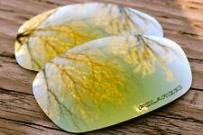 24 K Gold Polarized Custom Replacement Sunglass Lenses for Oakley Split Jacket