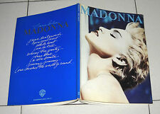Spartiti Songbook MADONNA True Blue - Piano vocal chords 1986 spartito