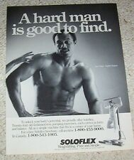 1985 print ad - sexy KEN NORTON Soloflex body building weightlifting man muscles