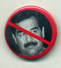 Anti Kill Saddam Hussein Desert Storm Pin Button Pinbacks...