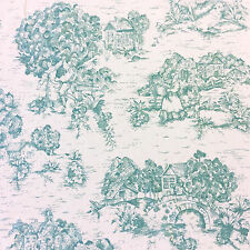 LDSO523 Classic French Toile de Jouy Country English Scenic Decor Cotton Fabric